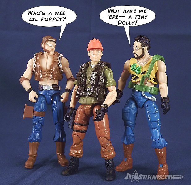 G.I. Joe Collector's Club Tollbooth action figure vs Dreadnoks
